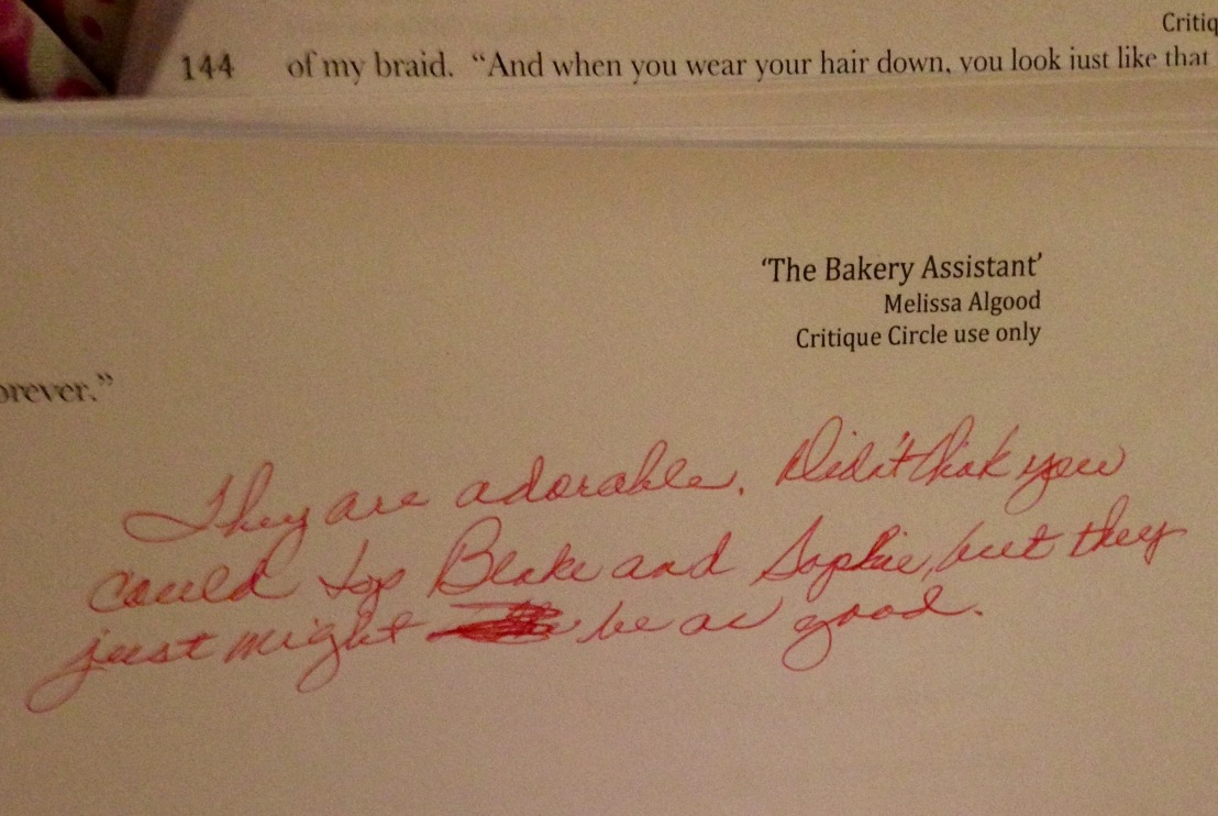 Feedback on Chapter 5 of 'The Bakery Assistant'